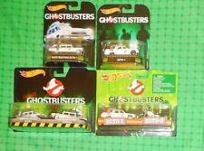 2016 Hot Wheels - Ghostbusters - Lot of 4  - w/ Classic Ecto-1, Ecto-1A & Ecto-2