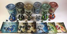 All 6 Original Bohrok Lego Bionicles w/ Canisters, Instructions & Comic Book