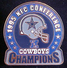 DALLAS COWBOYS 1995 NFC CONFERENCE CHAMPIONS WILLABEE & WARD COMM SERIES PIN