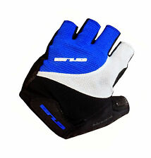 GUB FS2107 Pittards Half Finger Gel Cycling Glove Sheep Leather Blue Large