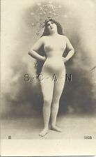 Original Vintage French Nude RPPC- Undivided Back- 1898-1905- Crown- Royalty