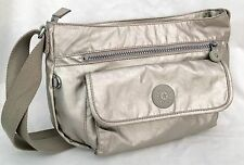 Sweet KIPLING SYRO Shoulder Cross Body Bag, Purse In Metallic Gold