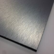 3mm Brushed Silver ACM Sheet A4 297 x 210 Dibond Aluminium Composite Sign