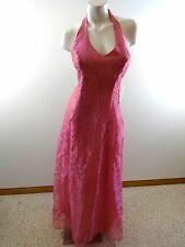 NWT WATER SIGNS WOMENS PINK ORGANZA FORMAL DRESS JUNIORS SIZE 9/10