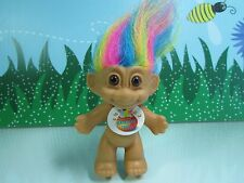 "GOOD LUCK / BINGO TROLL w/RAINBOW HAIR - 3"" Russ Troll Doll - NEW WITH FLAWS #7"