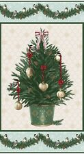 1 Fabric Panel Home for the Holidays Christmas Tree Fabric Panel - 8129p-60
