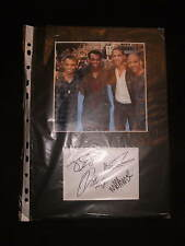 HAND SIGNED by All 4 JLS Band Autograph Picture Photograph MOUNTED 12 X 8 Aston