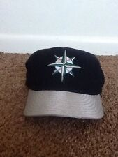 Vintage New Era Seattle Mariners Fitted Hat Size 7 Diamond Collection