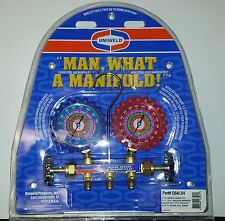 A/C MANIFOLD GAUGES UNIWELD BRASS BODY FOR R410A R22 R404A and 5' Hoses.