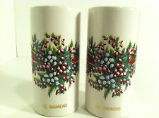 VINTAGE ST. ANDREWS CHRISTMAS SOUVENIR SALT & PEPPER SHAKERS MADE IN ENGLAND