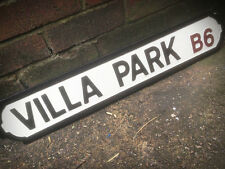 Villa Park Old Fashioned Wood Football Aston Street Sign Road Sign