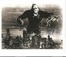 KING KONG FAY WRAY SIGNED AUTOGRAPH  8 X 10  BLACK & WHITE WILLIS O'BRIEN C.O.A.