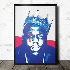 Biggie Smalls Pop Art Poster Music Hip Hop Rap Tupac Shakur