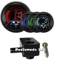 Ford Fiesta st180 60mm Pico advertencia Boost Gauge PSI y de montaje adaptador