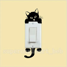 1Pc Sticker 3D Mural Décoration Maison Autocollant Effaçable Chat Mignon Cartoon