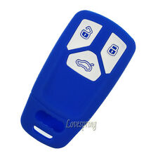 Blue Smart Key Fob Remote Cover Case Protector For Audi 2016 TT A4 2017 Q7