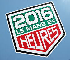 LE MANS 24 HOURS 2016 PAIR of stickers decals 150mm tall easy apply vinyl