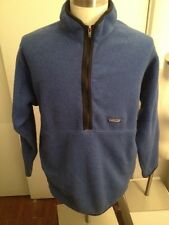 Vtg Patagonia Synchilla Large Blue Marsupial Half Zip Fleece Cardigan Jacket