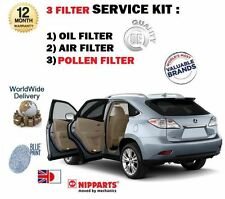FOR LEXUS RX450H 3.5i HYBRID 2009-  SERVICE KIT OIL AIR POLLEN ( 3 ) FILTER KIT