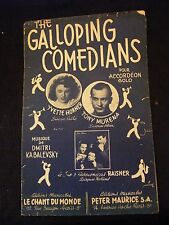 Partition The galloping Comedians Yvette Horner Tony Murena Music sheet