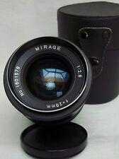 MIRAGE LENS 1:2.8 f=28mm  & CAPS, & HARD CASE