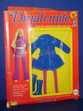 DINAH-MITE Fashion Action Doll MOD Coat Outfit #1415 in Package MEGO 1970s