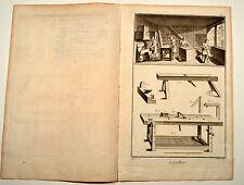 2 x Kistenmacher Diderot 1770 Layetier Original Kupferstich KOMPLETT case maker