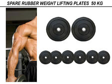 SPARE WEIGHT RUBBER PLATES { 50 KG }