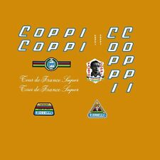 Coppi Tour de France Super Bicycle Decals, Transfers, Stickers - 0043