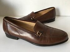 Men's BALLY Rolo Slip On Leather Dress Loafer Made in Italy Brown 9.5D (Medium)
