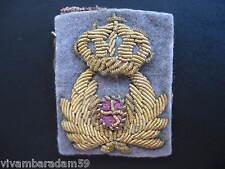 UNIFORMI MILITARI REGIO ESERCITO FREGIO COMMISSARIATO 1940 ORIGINAL WW2 CAPBADGE