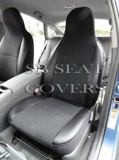 TO FIT A SKODA CITIGO CAR, SEAT COVERS, EBONY BLACK SUEDE/LEATHERETTE TRIM