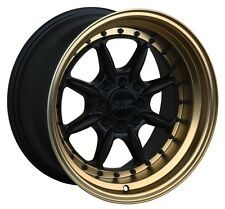 XXR 002.5 15X8 4x100/114.3 +20 Black/Bronze Wheels Fits Civic Ef Ek Eg Miata Mr2