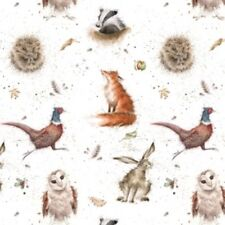 Wrendale Designs WOODLANDERS GIFT WRAPPING PAPER by HANNAH DALE Fox Owl Hare