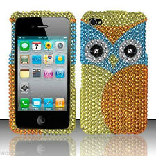 For Apple iPhone 4 4S Crystal Diamond BLING Hard Case Snap Phone Cover Yello Owl
