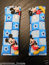 Baby Seat Belt Strap Covers Car Highchair Stroller Pram - Mickey Mouse