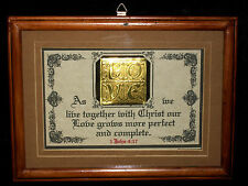 AS WE LIVE TOGETHER WITH CHRIST-Wedding,Bride,Bible Verse Plaque Christain Gifts