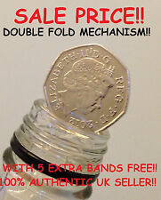 50p COIN IN THE BOTTLE MAGIC TRICK [DOUBLE FOLD] / FOLDING COIN TRICK 50p