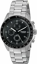 Fossil Men's CH3026 Sport 54 Chronograph Black Dial Stainless Steel Watch