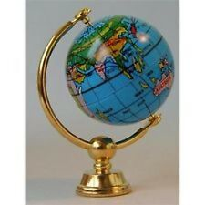 Brass World Globe, Doll House Miniature, 1.12th Scale House Decor, Ornament