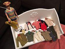 VINTAGE ALLEN KenDOLL-Barbies Friend + 15 Pcs VTG CLOTHES -RARE- STAND-ACCESS