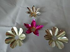 Vintage TIN / ALUMINUM Foil CHRISTMAS Light Reflectors Lot of 4