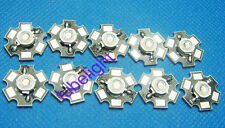 10PCS 3W High Power Green LED Emitter 520-530nm 150lm with 20mm Star Heatsink