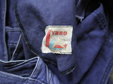 Rare 1950s Blued Twill Lybro Darned British Workwear Overalls