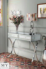MY-Furniture Barcelona style Mirrored and Chrome Dressing Console/Table AURELIA