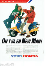 PUBLICITE ADVERTISING 056  1987  Les  scooters Honda  New Man
