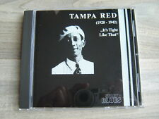 blues CD chicago 20s jazz30s *NEAR MINT* TAMPA RED Its Tight Like That 1928-1942