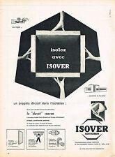 PUBLICITE ADVERTISING 014   1960   ISOVER SAINT-GOABAIN  Laine de verre