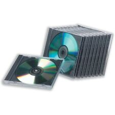 10 Plain VUOTO Hard Casi Cd/Forte Trasparente Top CD CASSETTE PER CD DVD o Bluray