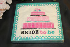 24ct 2ply BRIDE TO BE Bachlorette Napkins Party Wedding Reception 816